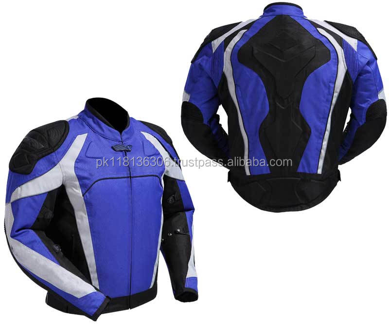Custom High Quality Men Motorbike Textile Airbag Jacket Motorcycle