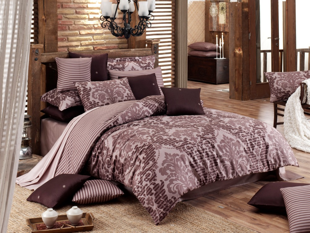 Majoli Satin Bedsheet Set 6 Pcs King size, Sultan