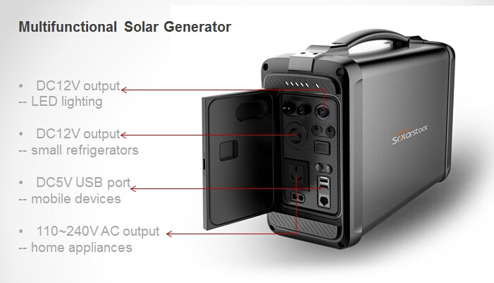 Home Solar Generator with Pure Sine Wave Inverter