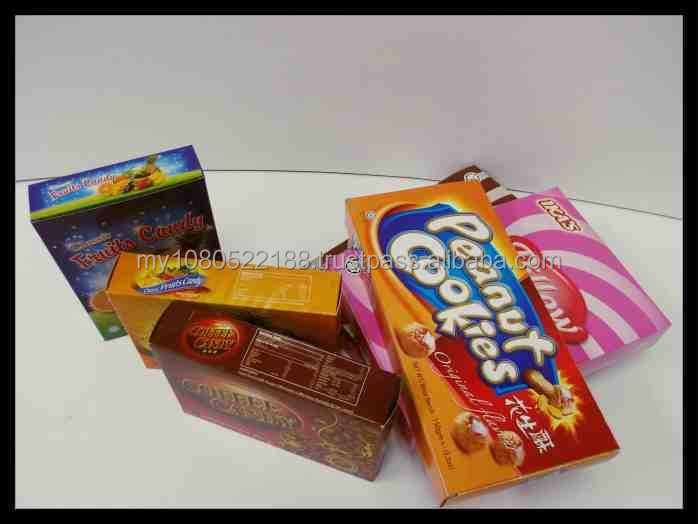 Various Type of Color Cookies Boxes