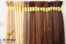 100% Natural Blond and Colored Bulk / Loose Extensions Uzbek Hair Raw Virgin Hair