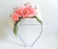 Flower Alice Band Hairband, Handmade Fashionable Hair Accessories for Children and Adults