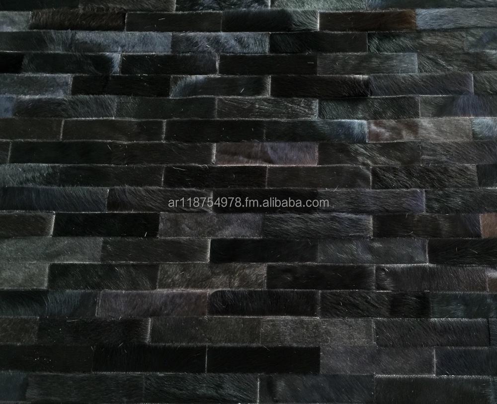 Koeienhuid patchwork deken  zwart koe huid leer verbergen tapijt ...