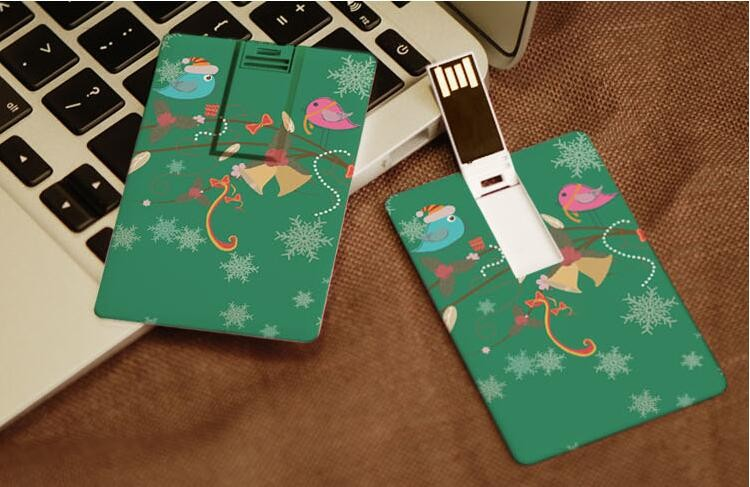 Professional manufacturer ultra thin card shape custom design oem brands usb flash drive