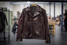 classical pu leather jacket/Classic Diamond Motorcycle Biker Brown Distressed Vintage real Leather Jacket/available in wholesale