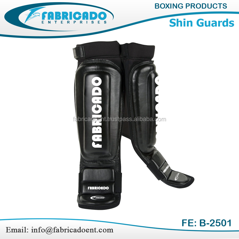 Shin Guard Kick Boxing High Quality Leather Shin Pad Fabricado Sialkot