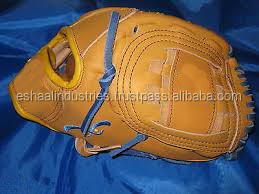 Close-Up of Stitching on Brown Leather Baseball Glove leather baseball keeping gloves Japaneses kip leather