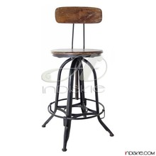 Industrial Drafting Stool Vintage Chair Steel Metal Shop Bar Adjustable Toledo Stools