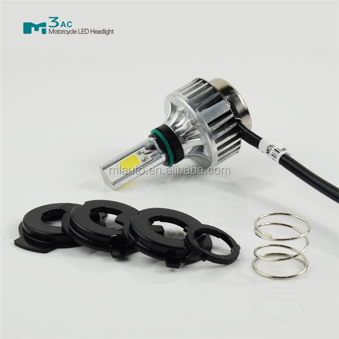 High quality M3AC 20W 2200LM 6000K COB LED Hi/Lo Beam led Motorcycle Headlight Front Light Bulb