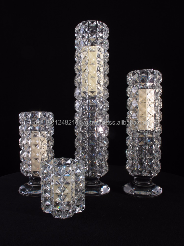 crystal long and thin crystal candle holders, wedding candlestick crystal MH-TZ062 For Sale