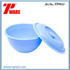 11.4 inch Plastic Bowl Round Container with Lid or Cover PP Material Blue Color