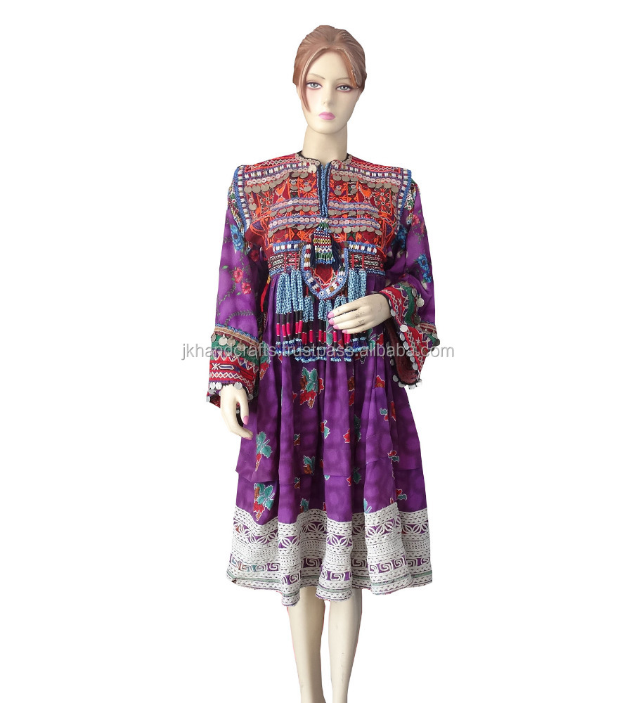 Wholesale Antique Coin Beads Dress Tribal Handmade Kutchi Women's Dress