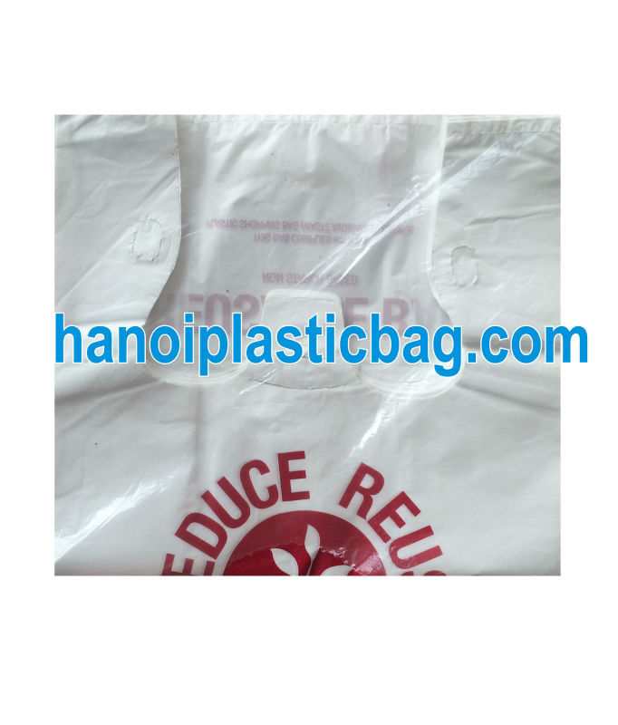 Suppermarket white T-shirt plastic bag/ Marchandise plastic bag in Grocery