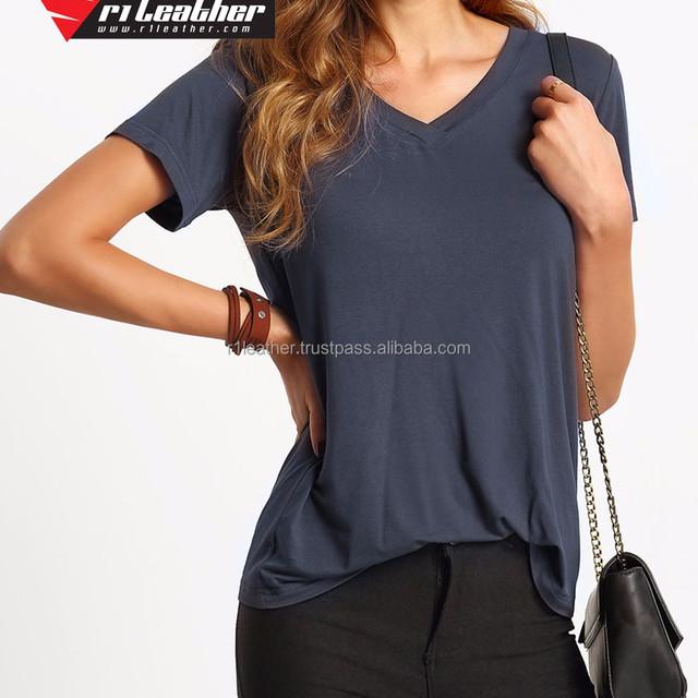 China Wholesale Women Blank White Cheap Short Sleeve T Shirt Custom Bamboo shirt