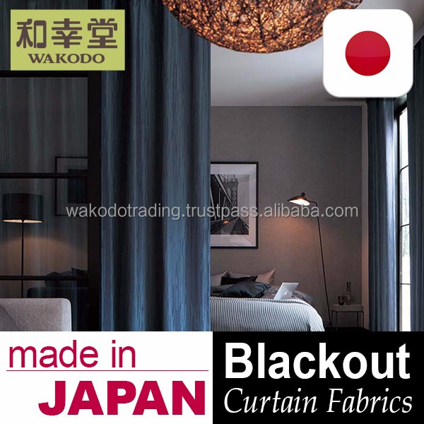 Made in Japan blackout drapes Curtain Fabric for home and hotel use , Samples also Available