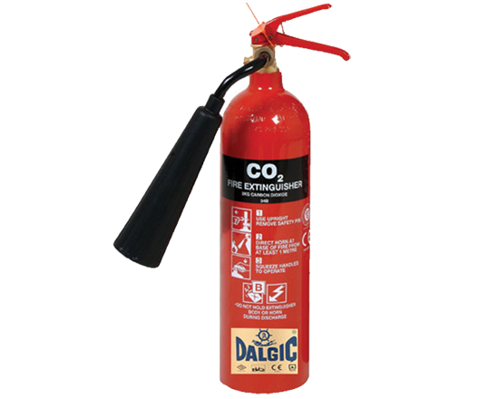 DALGIC CO2 Carbon Dioxide 5 kg Portable Fire Extinguishers
