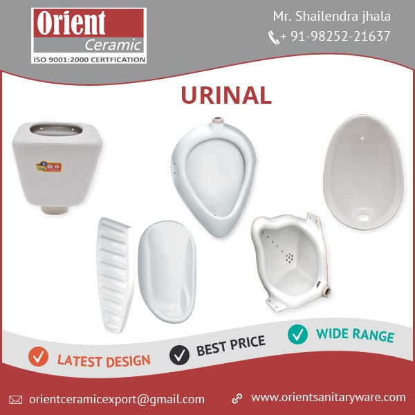 High Class Corner Urinal for Public Toilets and Hotel Washrooms