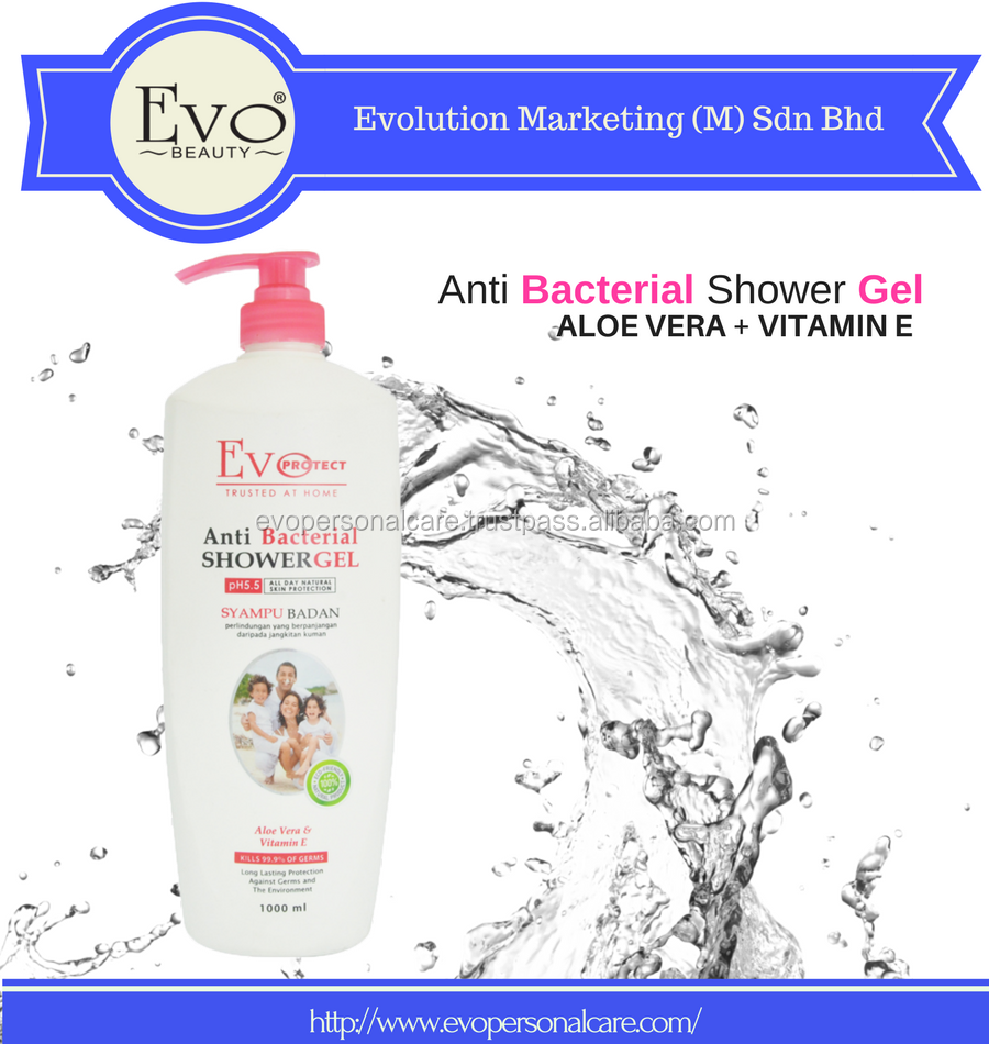 ANTI-BACTERIAL BODY SHOWER GEL - ALOE VERA + VITAMIN E