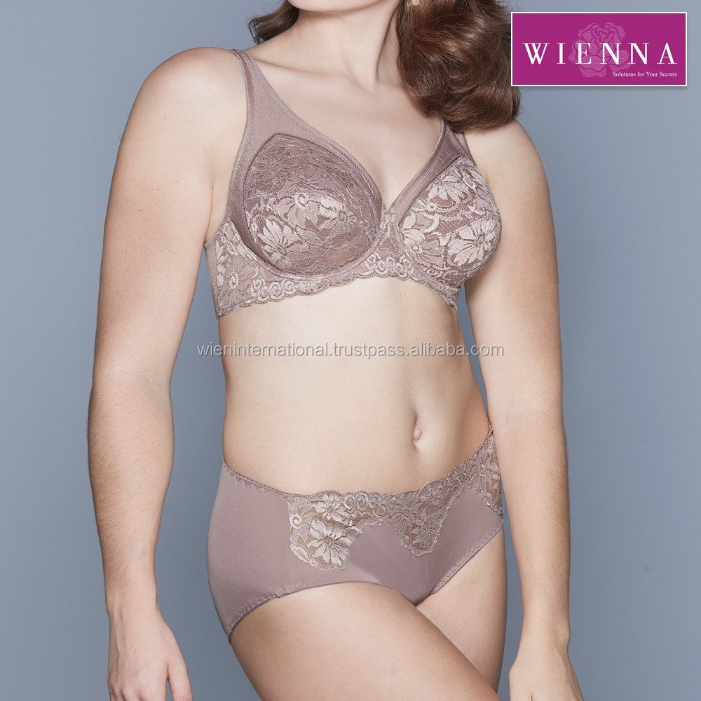 Lace underwired bra, big size plus, made of nylon and lace