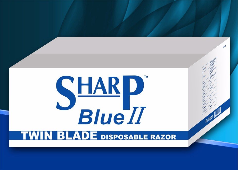 SHARP BLUE II TWIN BLADE DISPOSABLE RAZOR