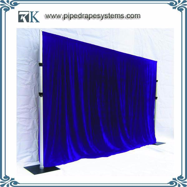 Best pipe & drape road case custom trade show exhibitions booth Led star curtain