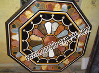 Octagonal Coffee Tables top With Inlay Work