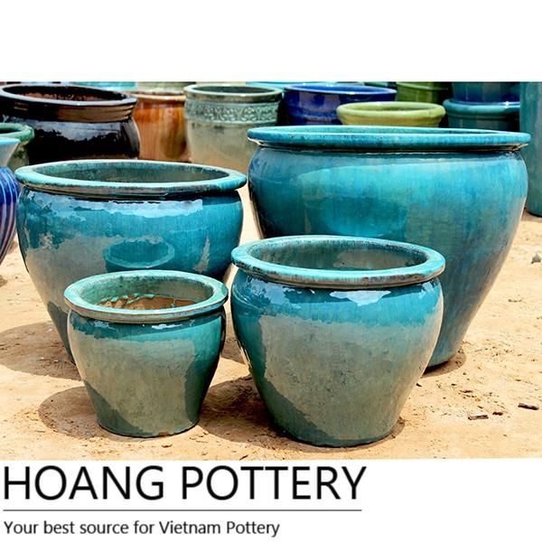 Black Diamon Pattern Large Glazed Ceramic Flower Pot - Black Diamon Pattern Large Glazed Ceramic Flower Pot, View Black