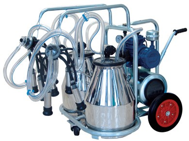 Stainless From Turkey Single and Double Bucket Manual Mechanical Milking Machine