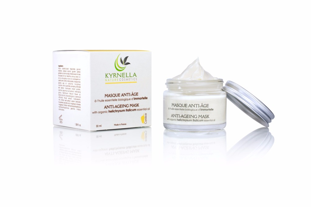 Anti-ageing mask with organic essential oil of Immortelle