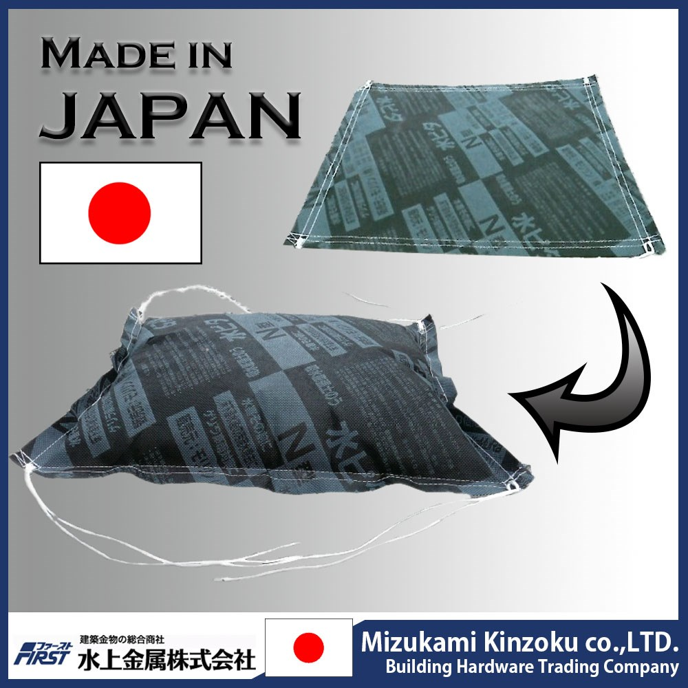 High quality sandless sandbag for emergency flood control made in Japan