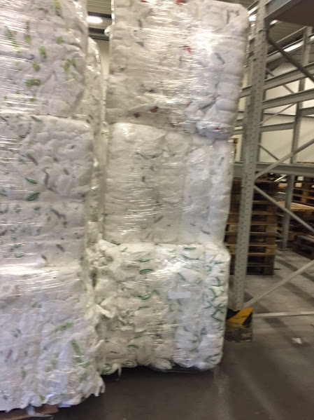 B Grade Diapers in Bales from french Supplier