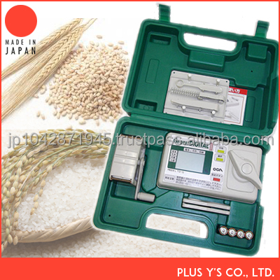 Paddy rice moisture meter with mini roller rice huller Made in Japan