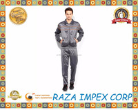Good quality men Dark Grey Polyester tracksuit / Sportswear Custom Made Cheap Tracksuit at Wholesale Rate