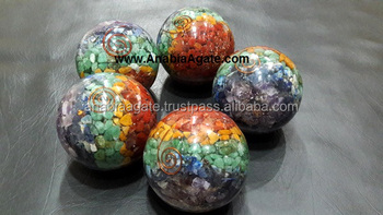 Chakra Layer Orgone Ball For sell : Wholesale Orgone Ball : Orgone Spheres