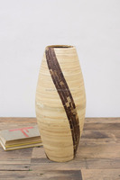 High quality best selling eco friendly Single spun bamboo and coconut shell vase for decoration in Viet Nam