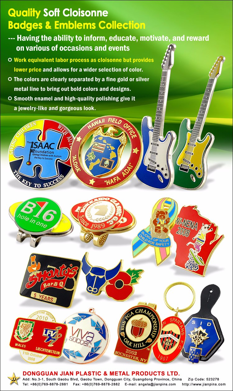 32 Years Factory Experience Custom Metal Pin/Badge Pin/Led Badge