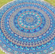Indian mandala tapestry wall decor bedsheets hippe yoga mat printed mandala beach blanket round tapestry throw bedsheets