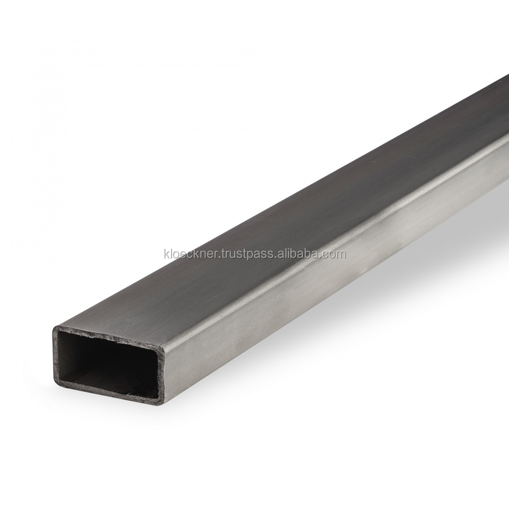 Stainless steel rectangular tube 1.4301 (X5CrNi18-10) welded, DIN EN 10088