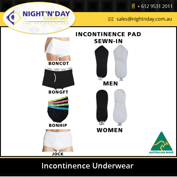 High Quality Washable Reusable Incontinence Cotton Underwear Made in Australia
