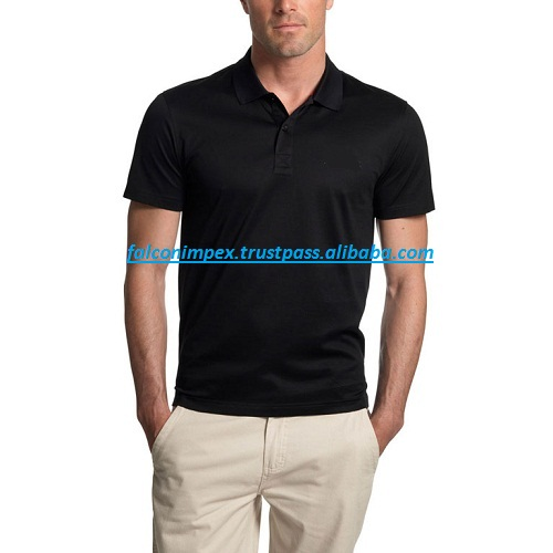High Quality 100% Ringspun Cotton blue Silk Men polo t-shirt printing