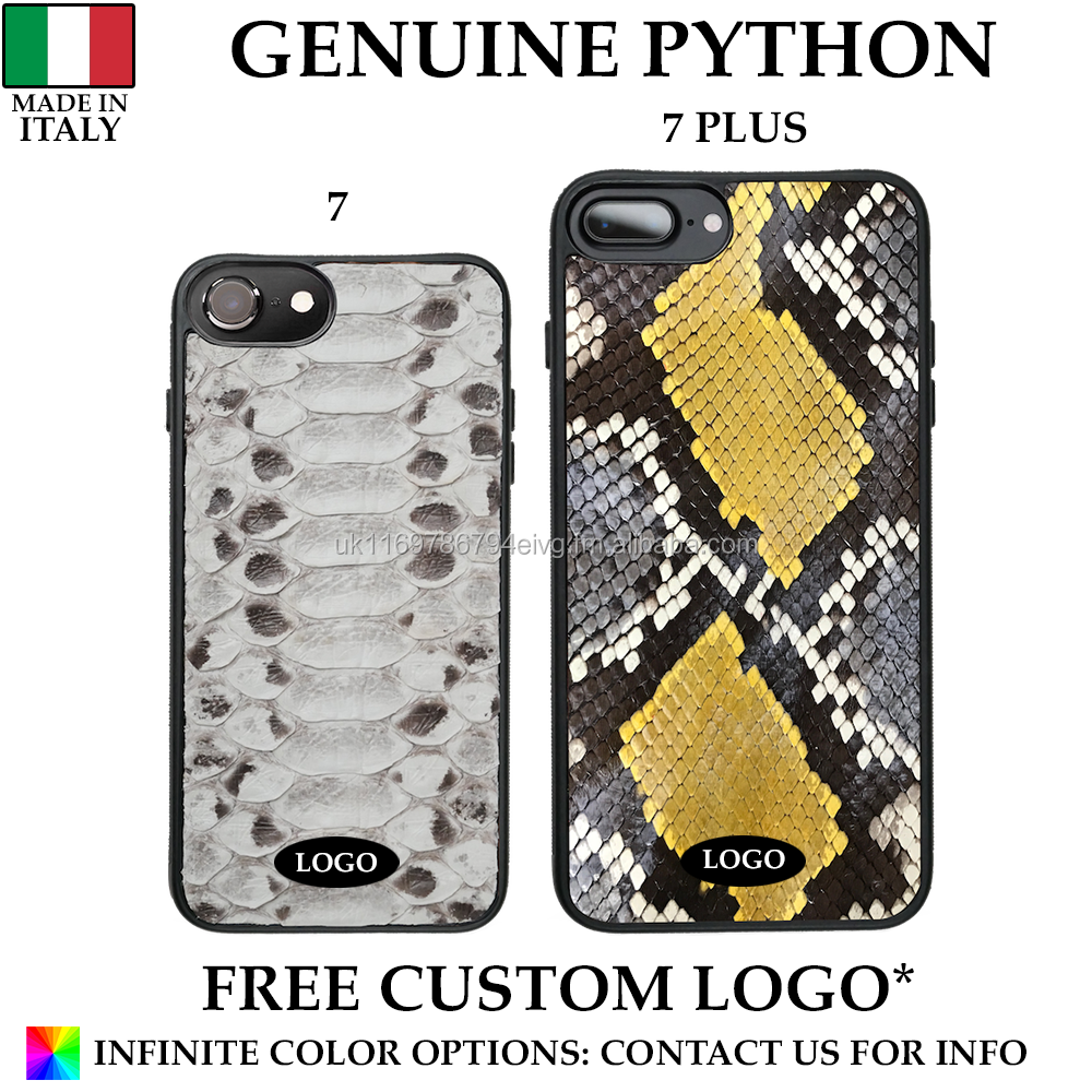 Genuine Italian Python Leather Mobile Phone Case Made in Italy