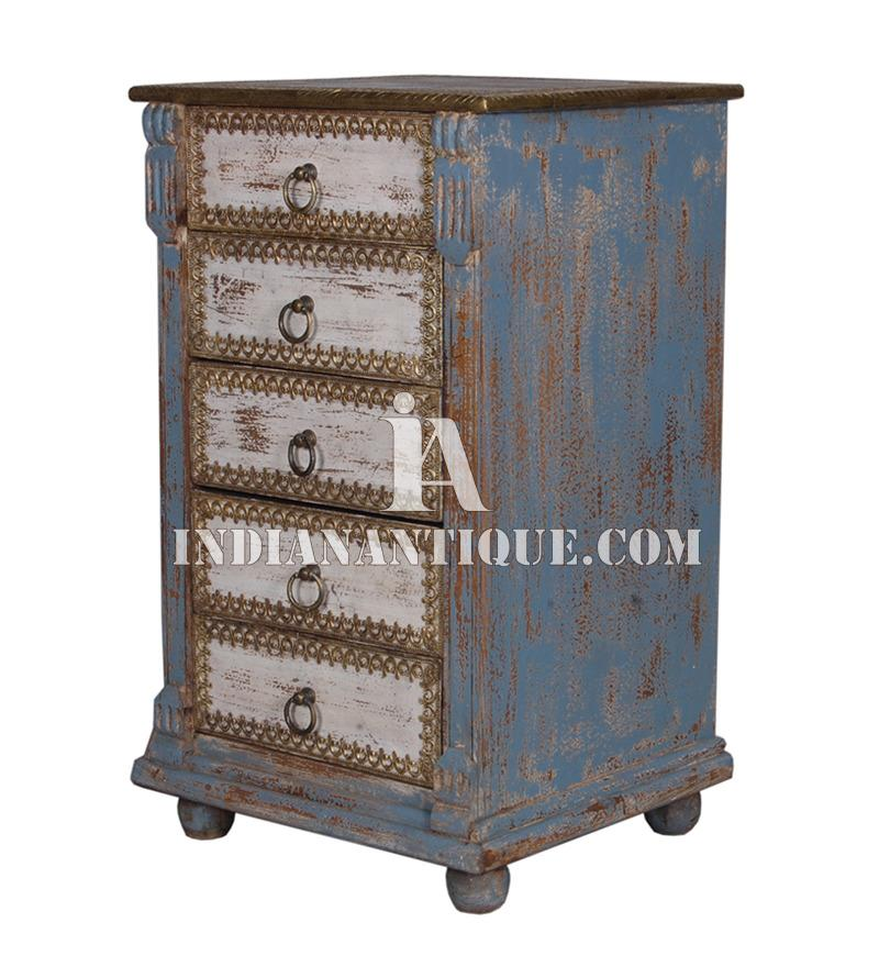 DISTRESSED HAND PAINTED DRAWER CHEST CABINET IA-DIS-97
