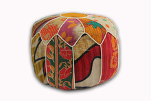 Cotton Geometric Round modern ottoman pouf Manufacturer Multicolor color