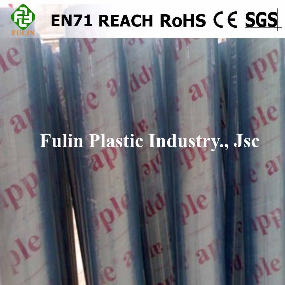 DOP EN/71 Material PVC Soft Sheet/Thin Thickness Clear PVC Flexible Film Manufacturer