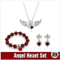 Platinum / 18 K gold plated / Crystal / earring / Bracelet / Necklace /Jewelry set