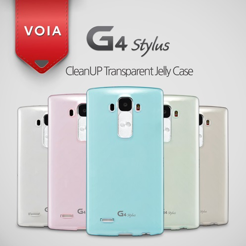 VOIA for LG G4 Stylus CleanUP Transparent Jelly Case