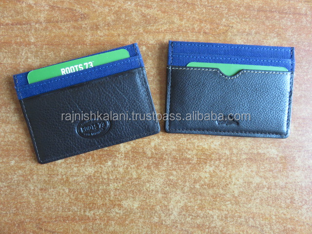 Hot sale personalized leather Mens business card holder wallets