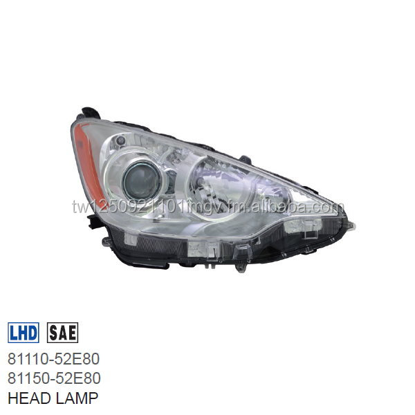 HEAD LAMP FOR TOYOTA PRIUS C 2012-ON US TYPE HYBRID 81110-52E80 81150-52E80 DEPO MADE