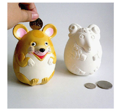 Ceramic Horoscope Coin Bank Medium Kit