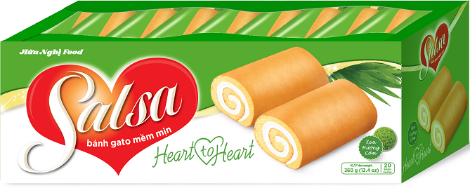 Hot sale Sasal pandan cream filling Swiss roll Cake 360g